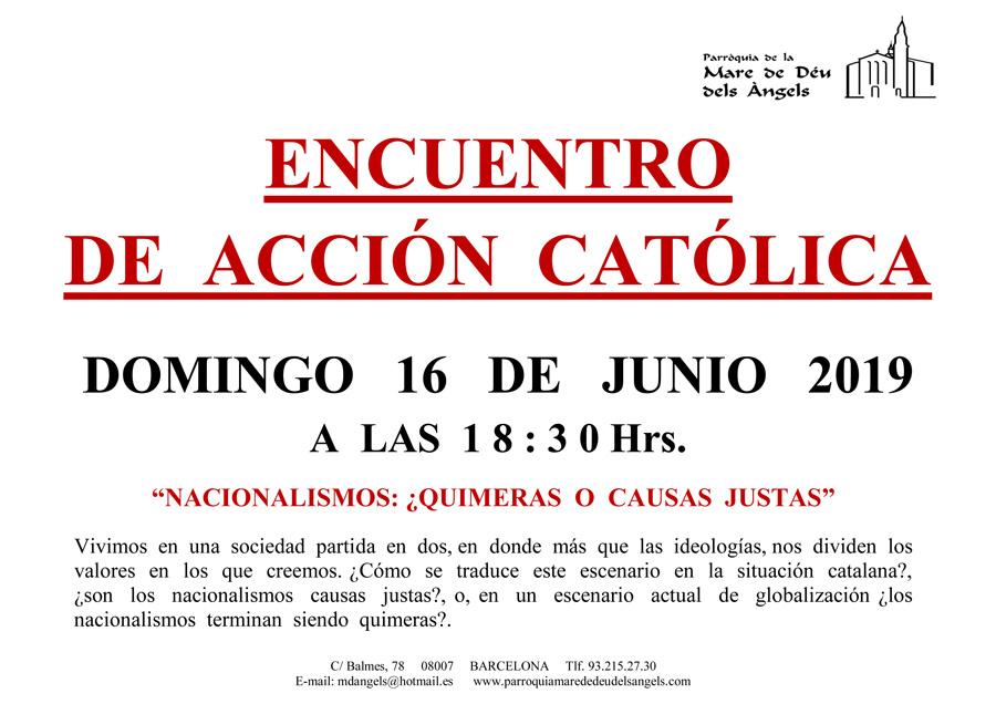 16 de junio -Accion catolica-2019